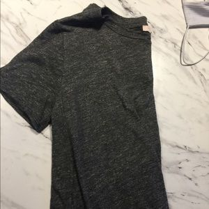 Gray Top with Side Slits
